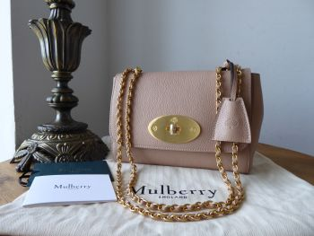 Mulberry Regular Lily in Rosewater Small Classic Grain and Felt Liner - New*