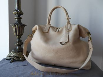 Mulberry Large Alice Zipped Tote in Buttercream Small Classic Grain