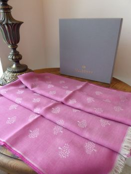 Mulberry Tamara Scarf in Mulberry Pink Superfine Cotton - New