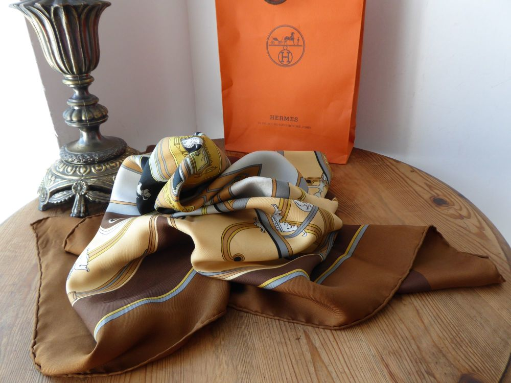 Hermès Silk Scarf, George Washingtons Carriage designed by Caty Latham