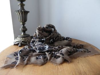 Alexander McQueen Anamalia Pashmina Scarf Wrap 'Leopard Snake Fight' in Silk Modal Mix - New