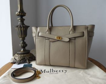 Mulberry Small Zipped Bayswater in Dune Small Classic Grain