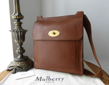 Mulberry Large New Style Antony Messenger in Oak Grained Vegetable Tanned Leather