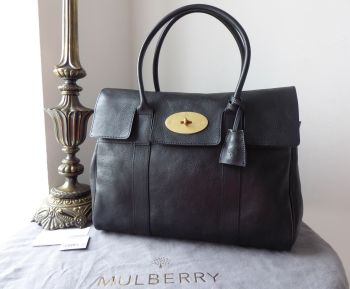 Mulberry Classic Heritage Bayswater in Black Natural Vegetable Tanned Leather - New*