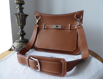 Hermés Jypsière 31 in Gold Clemence Leather with Palladium Hardware