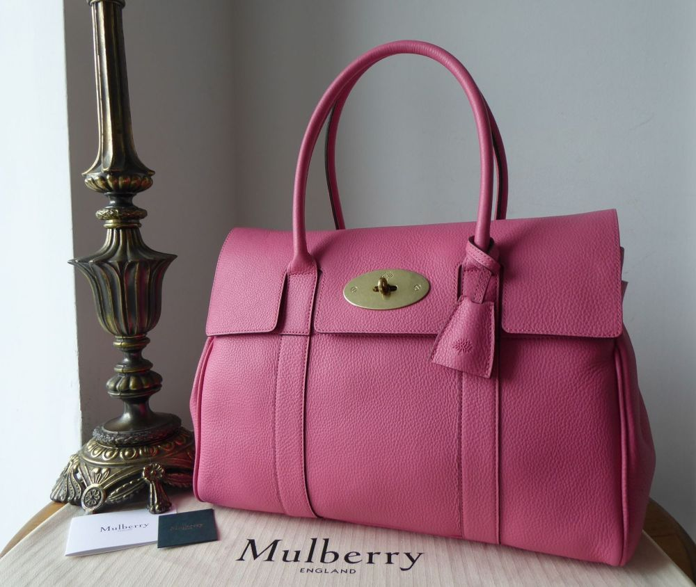 Mulberry Classic Heritage Bayswater in Geranium Pink Small Classic Grain -
