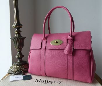 Mulberry Classic Heritage Bayswater in Geranium Pink Small Classic Grain - New