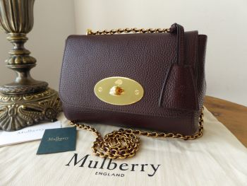 Mulberry Regular Lily in Oxblood Grained Vegetable Tanned Leather - New*