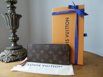 Louis Vuitton Clemence Continental Purse Wallet in Monogram with Rose Ballerine - SOLD