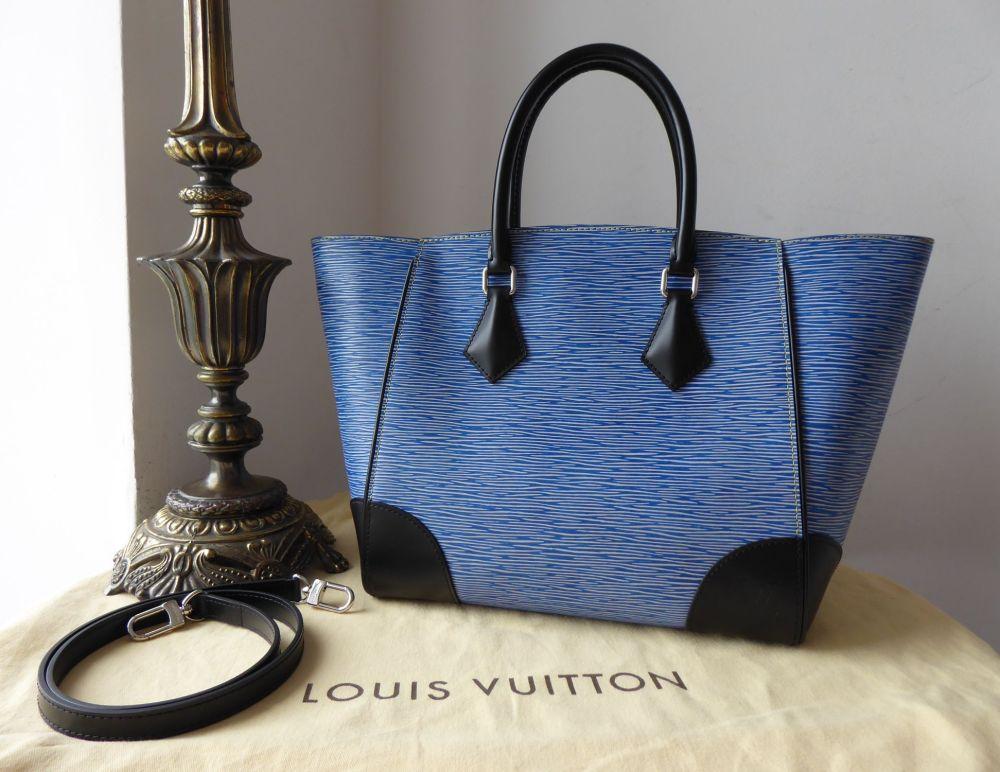 Louis Vuitton Phenix Shoulder Tote in Blue Jean Denim Blue Epi Noir