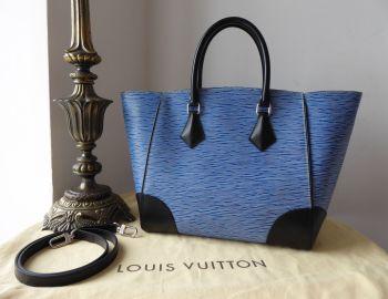 Louis Vuitton Phenix Shoulder Tote in Blue Jean Denim Blue Epi Noir