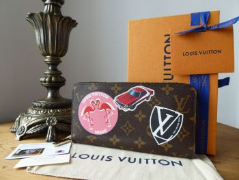 Louis Vuitton Limited Edition Monogram World Tour Zippy Continental Zippy Purse - As New