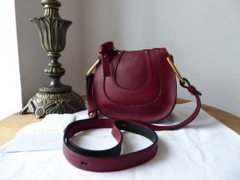 Chloe Nano Hayley Crossbody in Sienna Red Calfskin - As New