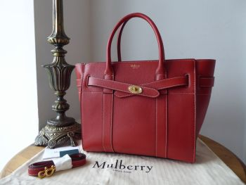 Mulberry Small Zipped Bayswater in Red Ochre Silky Calf Leather - New*