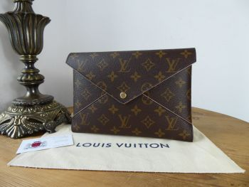 Louis Vuitton Single Large Size Pochette Kiriami Pouch in Monogram & Ballerine Pink - As New