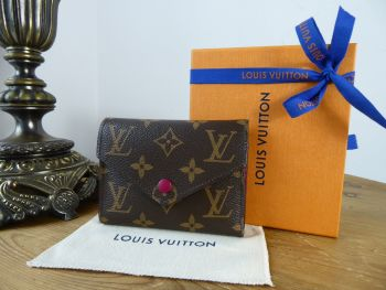 Louis Vuitton Victorine Compact Purse Wallet in Monogram Fuchshia