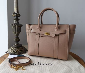 Mulberry Small Zipped Bayswater in Rosewater Small Classic Grain Leather