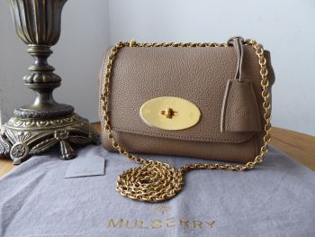 Mulberry Regular Lily in Dark Beige Small Classic Grain Leather