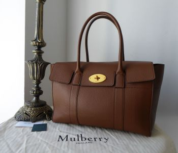 Mulberry New Style Bayswater in Oak Small Classic Grain Leather