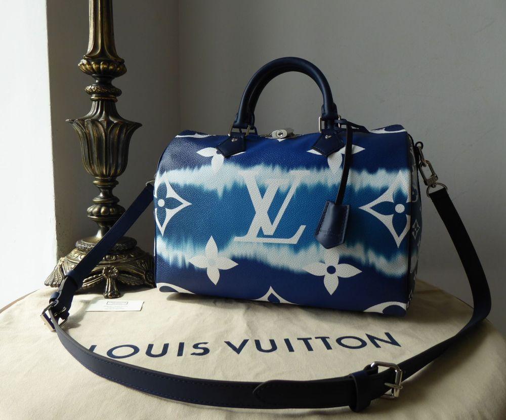 Louis Vuitton Limited Edition Escale Blue Speedy Bandoulière 30 New