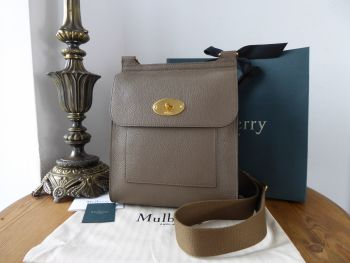 Mulberry Antony in Clay Grey Small Classic Grain Leather - New