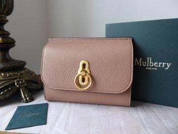 Mulberry Amberley Medium Purse Wallet in Dark Blush Small Classic Grain - New