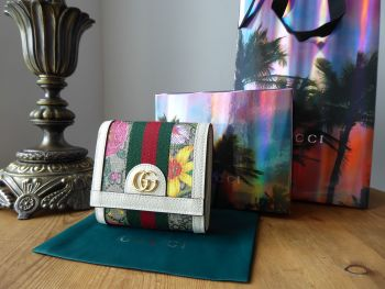 Gucci Ophidia GG Flora Small Wallet Card Case - New*