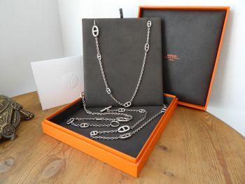 Hermès Farandole Long Necklace Chain in Sterling Silver