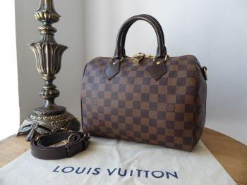 Louis Vuitton Speedy B Bandouliere 25 in Damier Ebene