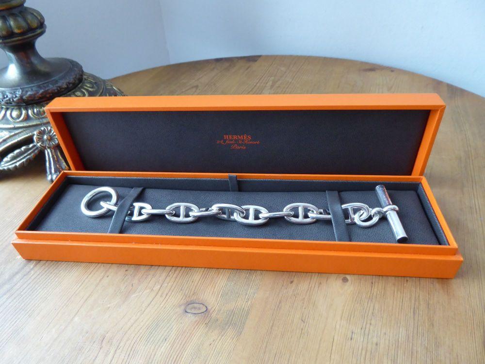 Hermès Chaine D'Ancre Medium Model Bracelet in Sterling Silver