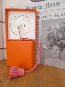 Hermés Carmencita Charm Page Marker in Rose Azalée Milo Lambskin- As New