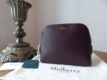 Mulberry Continental Cosmetic Pouch in Oxblood Grain Veg Tanned - New