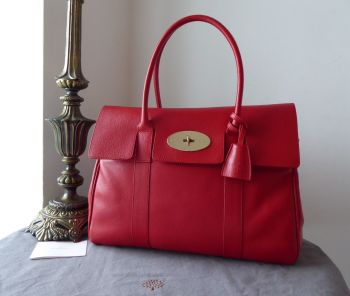 Mulberry Classic Heritage Bayswater in Bright Red Shiny Goat