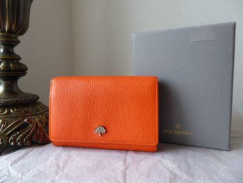 Mulberry Tree French Purse in Mandarin Orange Small Classic Grain
