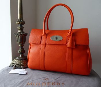 Mulberry Classic Heritage Bayswater in Mandarin Orange Small Classic Grain