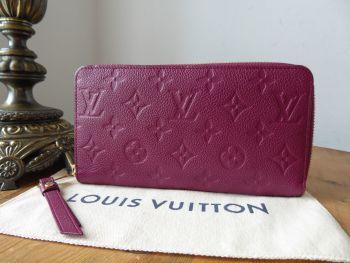 Louis Vuitton Zippy Secret Purse Wallet in Monogram Empreinte Aurore