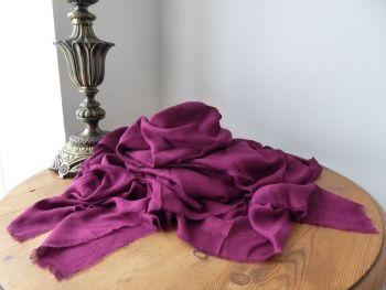 Alexander McQueen Pashmina Scarf Wrap in Skull Jacquard Plum Modal Cashmere - New*
