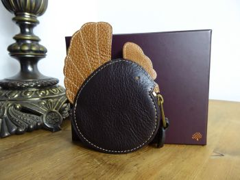 Mulberry Chicken Coin Purse in Chocolate & Oak Darwin Leather - As New