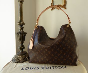 Louis Vuitton Graceful MM in Monogram Beige
