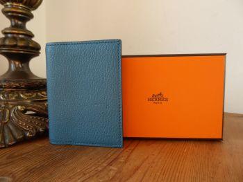 Hermés Simple Agenda Cover PM in Blue Colvert Chevre Mysore Leather  - New*