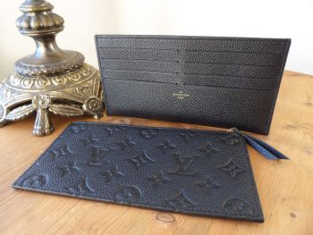 Louis Vuitton Félicie Two Insert Pouches in Calfskin & Monogram Empreinte Noir