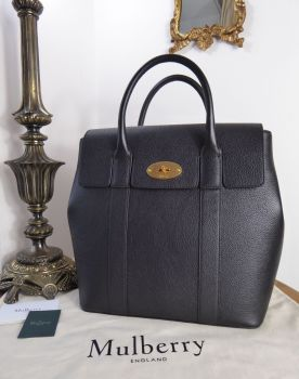Mulberry Bayswater Backpack in Black Small Classic Grain Leather - As New