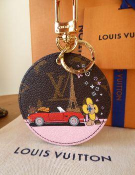 Louis Vuitton Limited Edition Illustre Vivienne Xmas Paris Bag Charm Key Holder
