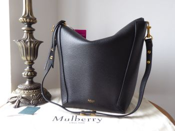Mulberry Camden in Black Small Classic Grain - New