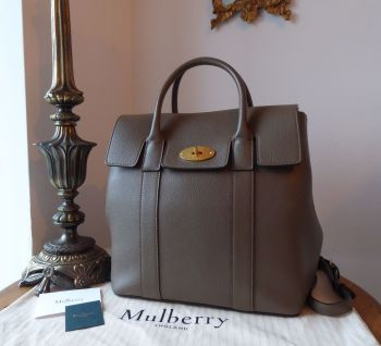 Mulberry Bayswater Backpack in Clay Small Classic Grain Leather with Felt Multi Liner
