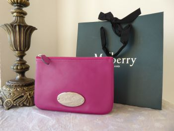 Mulberry Mitzy Medium Zip Pouch in Forest Fruits Nappa Leather