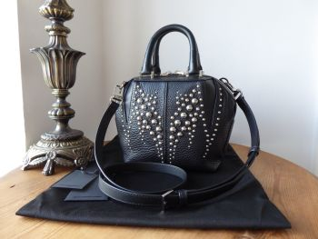 Alexander Wang Mini Emilie in Black Pebbled Calfskin with Antiqued Rhodium Studs