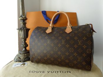 Louis Vuitton Speedy 35 in Monogram Canvas & Calfskin Vachette
