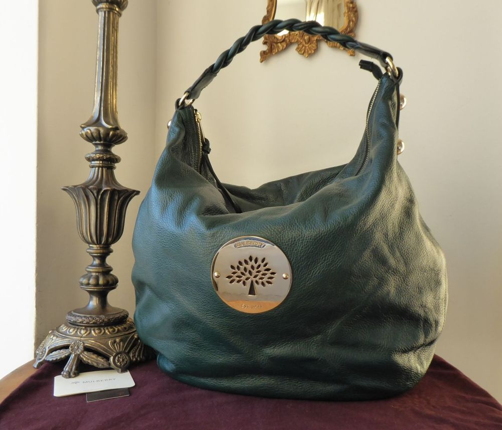 Mulberry Large Daria Hobo in Pheasant Green Soft Spongy Leather