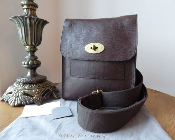 Mulberry Antony Regular in Chocolate Natural Leather